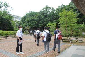 名古屋経済大学高蔵高等学校の学生を対象とした「大学見学会」を開催しまし た!